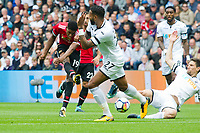 Football - 2017 / 2018 Premier League - Swansea City vs. Manchester United<br /> <br /> Marcus Rashford of Manchester United shoots at goal<br /> , at Liberty Stadium.<br /> <br /> COLORSPORT/WINSTON BYNORTH