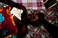 A woman who was shot during an SPLA mutiny in which a general upset with elections results formed a militia with guns seized from civilians.