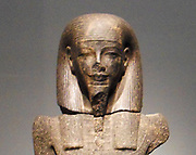 Male god from Egypt. New Kingdom, 18th Dynasty, reign of Amenhotep III. ca. 1390–1352 B.C. Granodiorite, carved in a style belonging to the reign of the pharaoh Amenhotep III