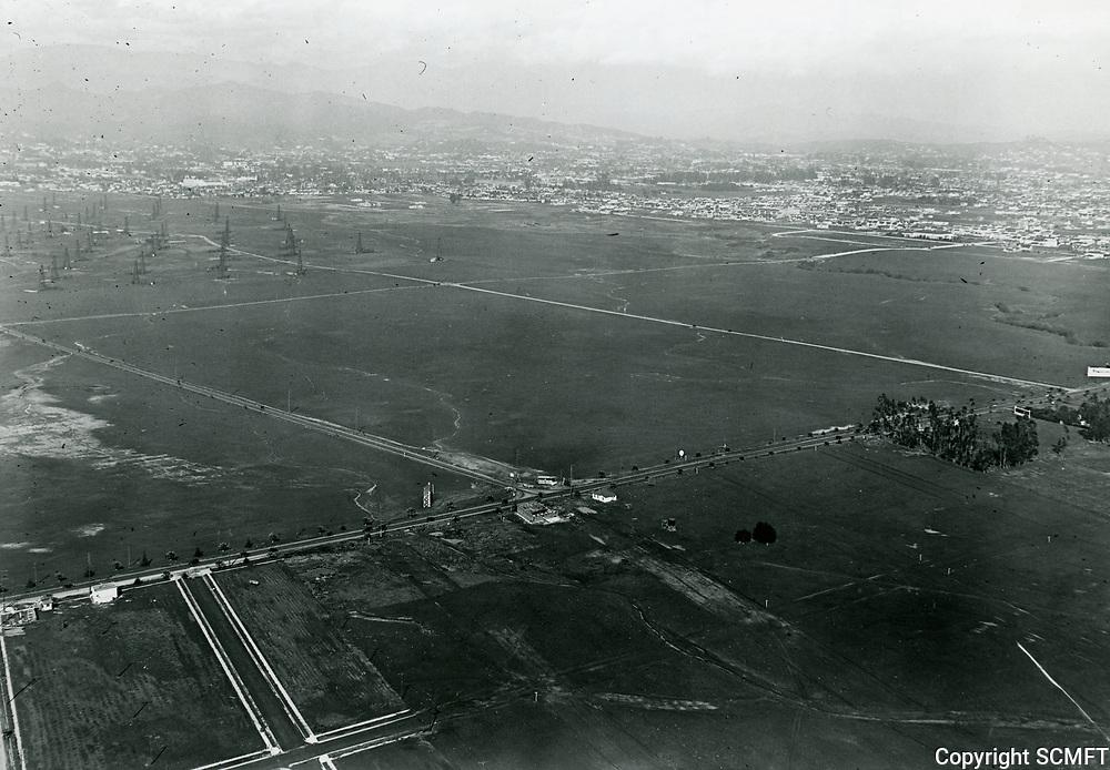 1922 Looking NE at Hollywood from Wilshire Blvd. & La Brea Ave.