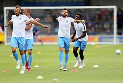 Coventry City's Tony Andreu (right) warming up