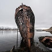 Wreck of the Steamship Sudurland, Djupavik, Westfjords, Iceland