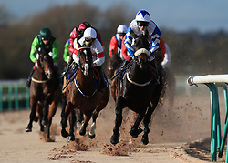 Dream Serenade goes around the first bend in the Betway Casino Handicap at Southwell Racecourse.