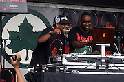 l to r: Spike Lee and DJ SPINNA  at the Spike Lee's Brooklyn celebration for Michael Jackson's Birthday held at the Neader field in Prospect Park, Brooklyn on August 29, 2009..Filmmaker Spike Lee celebrates the ' King of Pop ' Birthday with a crowd packed party remembering the recently departing All time Great with a day long spinning of his music in Brooklyn's own Prospect Park