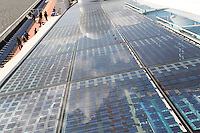 Celebrity Eclipse interior photos..Solar electricity cells on the roof of the Solarium..
