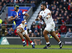 February 10, 2019 - London, England, United Kingdom - Billy  Vunipola of England.during the Guiness 6 Nations Rugby match between England and France at Twickenham  Stadium on February 10th, 2019 in Twickenham, London, England. (Credit Image: © Action Foto Sport/NurPhoto via ZUMA Press)