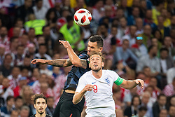 July 11, 2018 - Moscow, Russia - 180711 Dejan Lovren of Croatia and Harry Kane of England competes for the ball during the FIFA World Cup semi final match between Croatia and England on July 11, 2018 in Moscow..Photo: Petter Arvidson / BILDBYRÃ…N / kod PA / 92085 (Credit Image: © Petter Arvidson/Bildbyran via ZUMA Press)