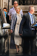 """Actress Amber Heard arrives at the High Court in London on Tuesday, July 21, 2020. She will attend a hearing in Johnny Depp's libel case against the publishers of The Sun and its executive editor, Dan Wootton. <br /> 57-year-old Depp is suing the tabloid's publisher News Group Newspapers (NGN) over an article which called him a """"wife-beater"""" and referred to """"overwhelming evidence"""" he attacked Ms Heard, 34, during their relationship, which he strenuously denies. (VXP Photo/ Vudi Xhymshiti) Actress Amber Heard arrives at the High Court in London on Tuesday, July 21, 2020. She will attend a hearing in Johnny Depp's libel case against the publishers of The Sun and its executive editor, Dan Wootton. <br /> 57-year-old Depp is suing the tabloid's publisher News Group Newspapers (NGN) over an article which called him a """"wife-beater"""" and referred to """"overwhelming evidence"""" he attacked Ms Heard, 34, during their relationship, which he strenuously denies. (VXP Photo/ Vudi Xhymshiti)"""