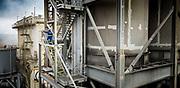 photographie couleur prise à l'aide d'un drone d'un rondier de la société Enercal sur le site industriel de Valé Nouvelle Calédonie.