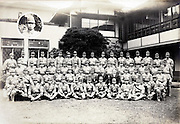 1939 group photo with young males in soldier uniform Japan