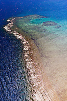Aerial view, New Caledonia Barrier Reef (a UNESCO World Heritage site), near Noumea, New Caledonia