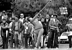 Donna Caponnitees off during the LPGA tourney at Round Hill CC in Alamo. (1972 photo/Ron Riesterer)
