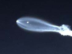 SpaceX rocket launch seen over Los Angeles - 22 Dec 2017