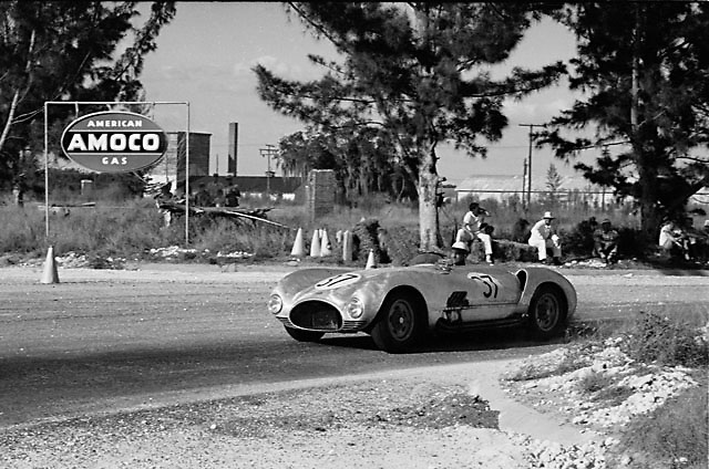 Cunningham C-6R at the 1955 Sebring 12-hour race. Photo by Ozzie Lyons