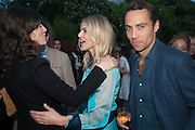 BELLA FREUD; DONNA AIR; JAMES MIDDLETON, The Serpentine Summer Party 2013 hosted by Julia Peyton-Jones and L'Wren Scott.  Pavion designed by Japanese architect Sou Fujimoto. Serpentine Gallery. 26 June 2013. ,