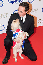 """Battersea, London, November 3rd 2016.  Celebrities and their dogs attend The Evolution at Battersea Park to attend The Battersea Dogs and Cats Home """"Collars and Coats Ball"""". PICTURED: Guy Henry"""