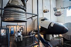 Powerhouse Museum exhibit of space vehicles in Sydney Australia