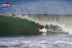 October 25, 2017 - Kanoa Igarashi of the USA advances to the Semifinals of the MEO Rip Curl Pro Portugal after defeating Miguel Pupo of Brazil in Quarterfinal Heat 3 at Supertubos, Peniche, Portugal...MEO Rip Curl Pro Portugal 2017, Oeste Subregion, Portugal - 25 Oct 2017 (Credit Image: © Rex Shutterstock via ZUMA Press)