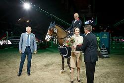 Clee Joe, (GBR), Utamaro D Ecaussines <br /> Landbouwleven Paard van het Jaar<br /> Vlaanderen Kerstjumping - Memorial Eric Wauters - <br /> Mechelen 2015<br /> © Hippo Foto - Dirk Caremans<br /> 28/12/15