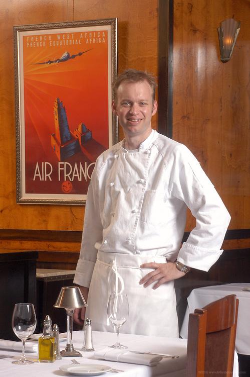 Chef Daniel Stage at Le Relais Restaurant.