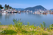 Southeast Alaska.  Wrangell. Summer.  Small boat harbor