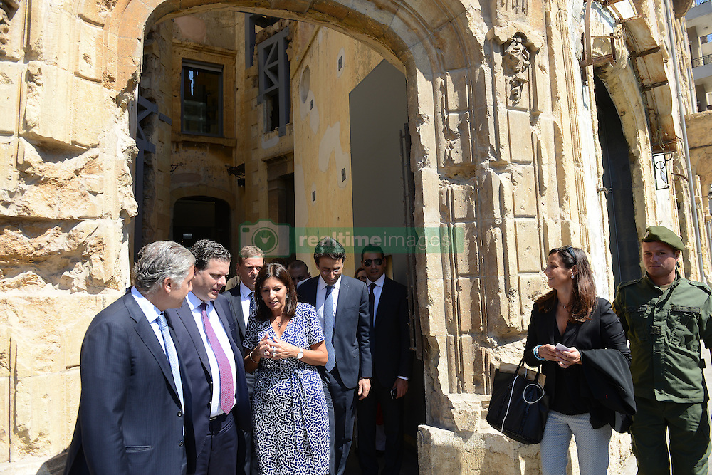 """Paris Mayor Anne Hidalgo seen during visit to """"Beit Beirut"""" foundation and museum, also known as """"La Maison jaune"""" or """"The Yellow House"""", in Beirut, Lebanon, on September 29, 2016. """"Beit Beirut"""" is a project that is helped and funded by Paris City to keep a place for the memory of Beirut and of Lebanon's civil war (1975-1990) in this building once located on the """"green line"""" that used to separate the city in two parts. Photo by Balkis Press/ABACAPRESS.COM"""