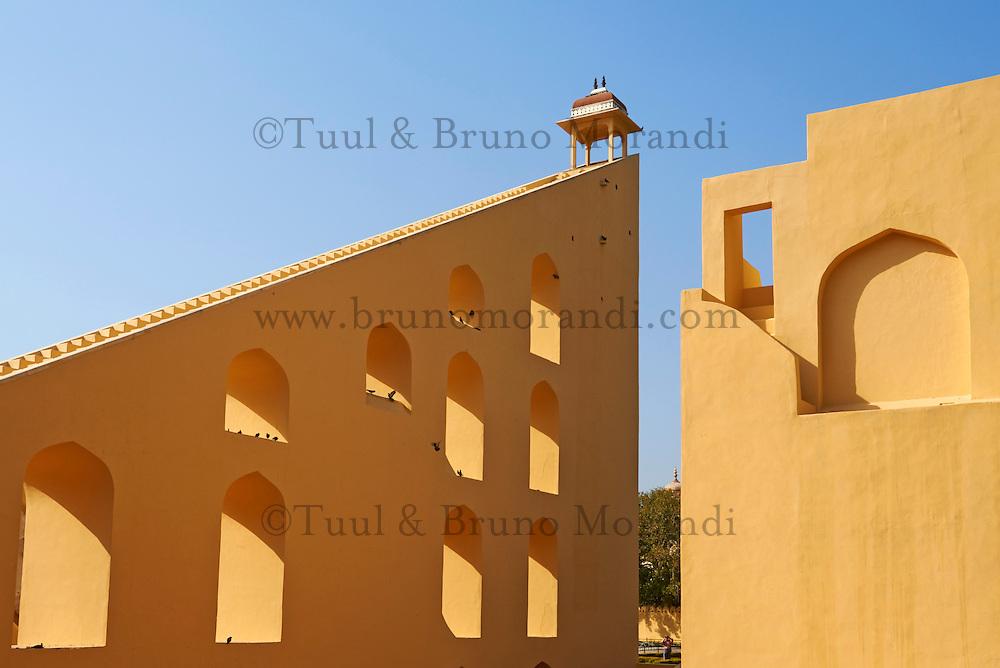 Inde, Rajasthan, Jaipur la ville rose, Observatoir Astronomique (Jantar Mantar). // India, rajasthan, Jaipur the Pink City, Oservatory (jantar Mantar)..