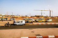 06-10-2015 -  Foto van Moderne taxistandplaats bij De stad van Marrakech in Marrakech, Marokko.