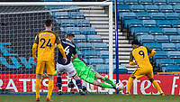Football - 2018 / 2019 Emirates FA Cup - Sixth Round, Quarter Final : Millwall vs. Brighton<br /> <br /> David Martin (Millwall FC) saves late on with his legs from Jurgen Locadia (Brighton & Hove Albion) at The Den.<br /> <br /> COLORSPORT/DANIEL BEARHAM