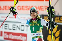Wendy Holdener (SUI) celebrating after the Ladies' Slalom at 56th Golden Fox event at Audi FIS Ski World Cup 2019/20, on February 16, 2020 in Podkoren, Kranjska Gora, Slovenia. Photo by Matic Ritonja / Sportida