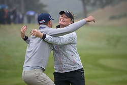 Sweden's Cajsa Parsson celebrates their win in their semi final match with Great Britain during day eleven of the 2018 European Championships at Gleneagles PGA Centenary Course. PRESS ASSOCIATION Photo. Picture date: Sunday August 12, 2018. See PA story GOLF European. Photo credit should read: Kenny Smith/PA Wire. RESTRICTIONS: Editorial use only, no commercial use without prior permission