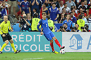 France Forward Antoine Griezmann during the Euro 2016 final between Portugal and France at Stade de France, Saint-Denis, Paris, France on 10 July 2016. Photo by Phil Duncan.