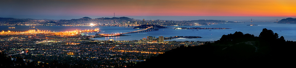 San Francisco, Oakland and the Golden Gate from Grizzly Peak.