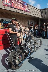 Chopper Time old school bike show at Willie's Tropical Tattoo during Biketoberfest. Ormond Beach, FL, USA. Thursday October 19, 2017. Photography ©2017 Michael Lichter.