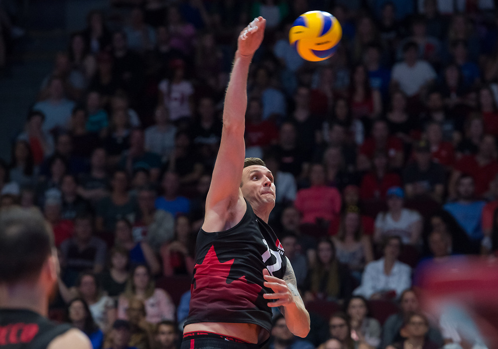 OTTAWA - JUNE 08: Australia vs Canada Volleyball Nations League at TD Arena in Ottawa, ON., Canada.<br /> <br /> June 8, 2018<br /> <br /> PHOTO: Steve Kingsman/Freestyle Photography for Volleyball Canada