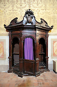 confessional in a church Italy