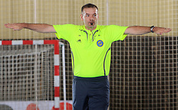 Referee Philippe von Escher (or Andre Philipp Buache) from SUI at handball match of 5th Round of qualifications for EHF Euro 2010 in Austria between National team of Slovenia vs Bulgaria, on November 30, 2008 in Velenje, Slovenia. (Photo by Vid Ponikvar / Sportida)