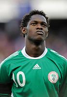 Fotball<br /> Frankrike v Nigeria<br /> Foto: DPPI/Digitalsport<br /> NORWAY ONLY<br /> <br /> FOOTBALL - FRIENDLY GAMES 2008/2009 - FRANCE v NIGERIA - 2/06/2009<br /> <br /> DICKSON ETUHU (NIG)
