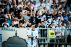 Roman Bezjak #14 of HNK Rijeka during football match between HNK Rijeka and GNK Dinamo Zagreb in Round #27 of 1st HNL League 2016/17, on November 5, 2016 in Rujevica stadium, Rijeka, Croatia. Photo by Grega Valancic / Sportida