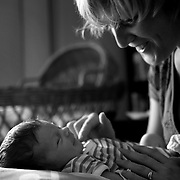 Baby Luca with Jen  at their home in Sydney, Australia on 3rd February  2009. Photo by Tim Clayton..