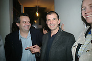 MARK HIX AND GIGI GIANUZZI, Opening of a new exhibition of collages by John Stezaker at The Approach W1. 74 Mortimer st. and afterwards at the House of St-Barnabas-in-Soho. Greek st. London. 21 November 2007. -DO NOT ARCHIVE-© Copyright Photograph by Dafydd Jones. 248 Clapham Rd. London SW9 0PZ. Tel 0207 820 0771. www.dafjones.com.