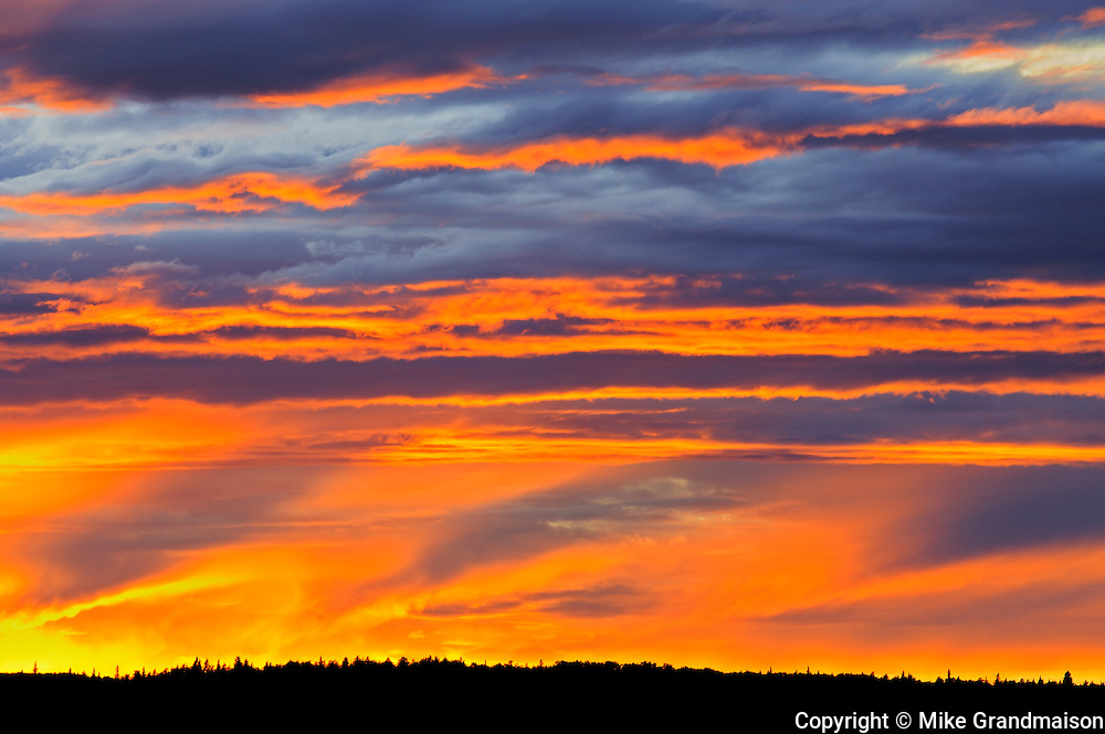 CLouds at sunset Waskasiu Lake<br /> Prince Albert National Park<br /> Saskatchewan<br /> Canada
