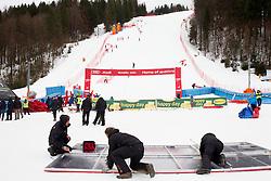 The end of  the 10th Men's Slalom - Pokal Vitranc 2013 of FIS Alpine Ski World Cup 2012/2013, on March 10, 2013 in Vitranc, Kranjska Gora, Slovenia. (Photo By Vid Ponikvar / Sportida.com)
