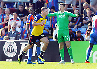 Football - 2018 / 2019 Premier League - Crystal Palace vs. Southampton<br /> <br /> Goalscorer, Pierre - Emile Hojbjerg of Southampton celebrates goal no 2, with dejected goalkeeper, Wayne Hennessey behind at Selhurst Park.<br /> <br /> COLORSPORT/ANDREW COWIE