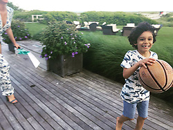 """Erin Heatherton releases a photo on Instagram with the following caption: """"Playing bball with my new friend Diego \ud83d\ude1c\ud83c\udfc0\ud83d\udc9c"""". Photo Credit: Instagram *** No USA Distribution *** For Editorial Use Only *** Not to be Published in Books or Photo Books ***  Please note: Fees charged by the agency are for the agency's services only, and do not, nor are they intended to, convey to the user any ownership of Copyright or License in the material. The agency does not claim any ownership including but not limited to Copyright or License in the attached material. By publishing this material you expressly agree to indemnify and to hold the agency and its directors, shareholders and employees harmless from any loss, claims, damages, demands, expenses (including legal fees), or any causes of action or allegation against the agency arising out of or connected in any way with publication of the material."""