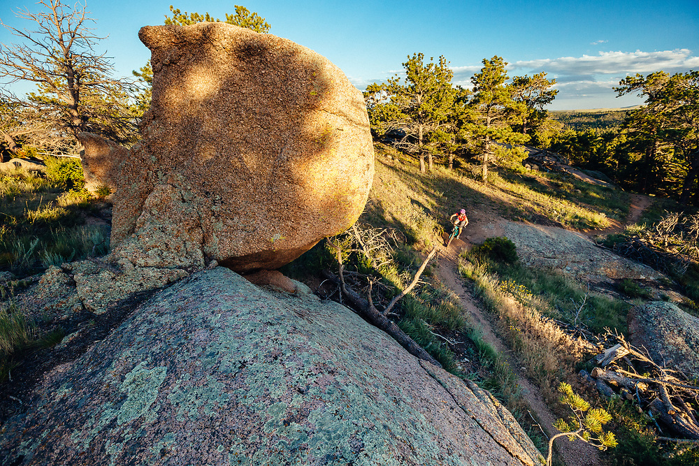 Heather Goodrich rides the 2% Trail in Curt Gowdy State Park in Eastern Wyoming.