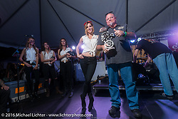 Indian Motorcycles party for the Hooligan racers and Indian custom bike competition at Main Street Station bar during the Daytona Bike Week 75th Anniversary event. FL, USA. Tuesday March 8, 2016.  Photography ©2016 Michael Lichter.