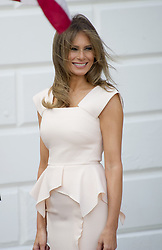 June 29, 2017 - Washington, District of Columbia, United States of America - First lady Melania Trump after welcoming President Moon Jae-in of the Republic of Korea at the White House in Washington, DC on Thursday, June 29, 2017.  .Credit: Ron Sachs / CNP (Credit Image: © Ron Sachs/CNP via ZUMA Wire)