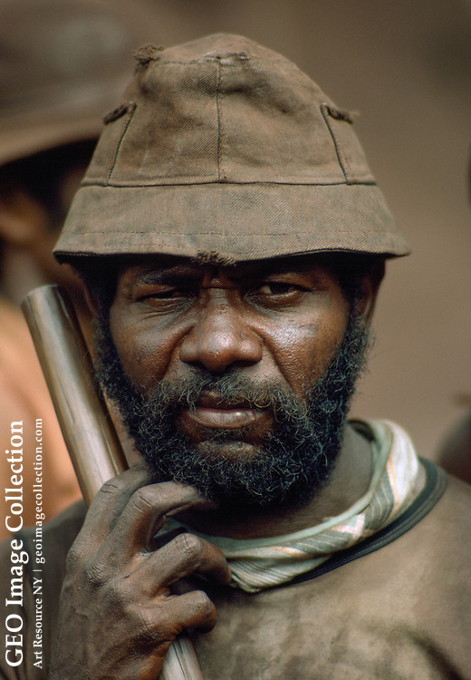 Portrait of a gold miner.