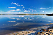 Cloud reflection in Lac La Biche <br /> Sir Winston Churchill Provincial Park<br /> Alberta<br /> Canada